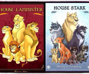 lion, stark, and wolf image