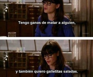 new girl, Cookies, and frases image