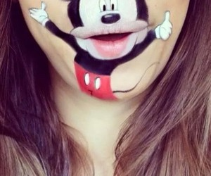 lips, mickey, and disney image