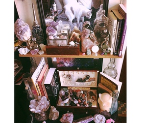 crystal, minerals, and witch image