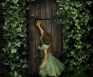 girl, green, and fantasy image