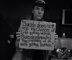 awareness, thesuicidesign, and falling in reverse image