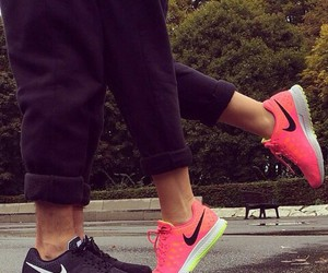 couple, nike, and fit image