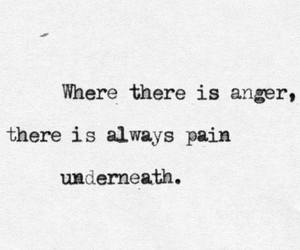 pain, quotes, and anger image