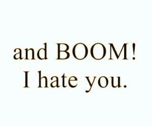 boom, hate, and you image