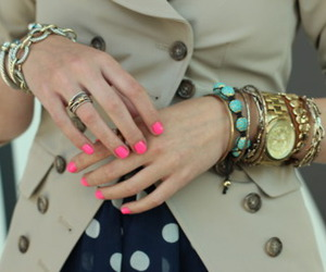 accessories, hand, and bracelet image