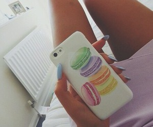 iphone, case, and macaroons image