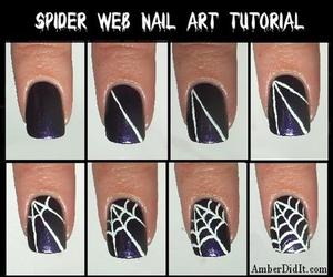 nails, diy, and Halloween image