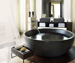 bathroom, luxury, and spa image