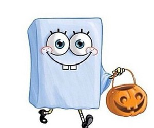 Halloween, spongebob, and ghost image