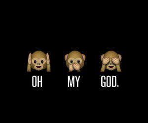 monkey, OMG, and quotes image