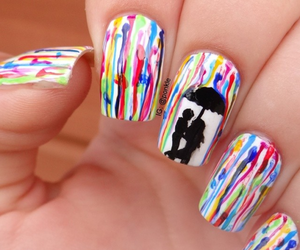 colorful, nails, and fashion image