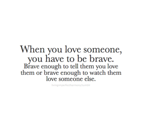 love, brave, and quotes image