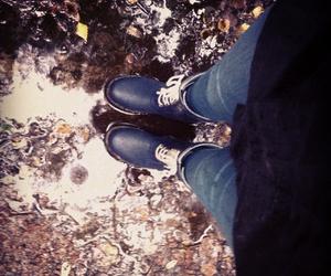 boots, rainyday, and rain image
