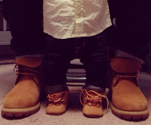 baby, dad, and shoes image