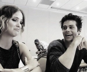 dylan o'brien, malia hale, and ohennig image