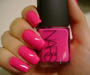 nails, pink, and nars image