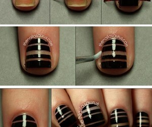 nails, black, and tutorial image