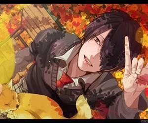anime, autumn, and manga image