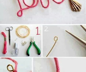 love, diy, and necklace image