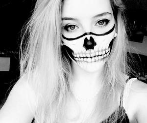girl, Halloween, and make-up image