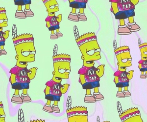 bart, background, and simpsons image