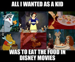 disney, food, and funny image