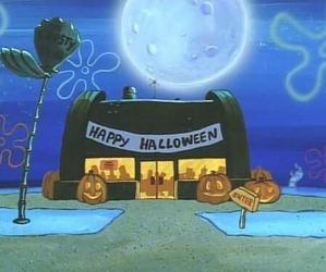 Halloween, spongebob, and happy halloween image