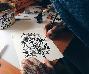 drawing, indie, and tattoo image