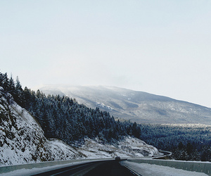snow, mountains, and winter image