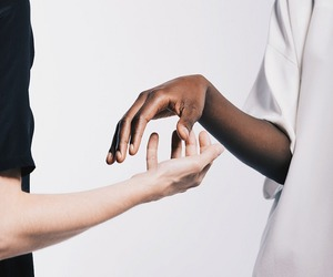 white, black, and hands image