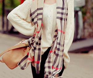 fashion, scarf, and Burberry image