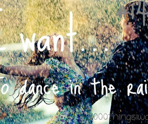 dance, rain, and dancing in the rain image