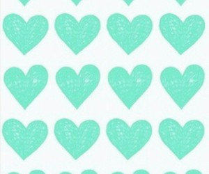 background, heart, and turquoise image