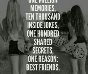 memories, best friends, and joke image