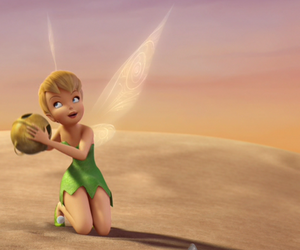 bell, disney, and tinker bell image