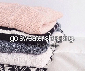 sweater and shopping image