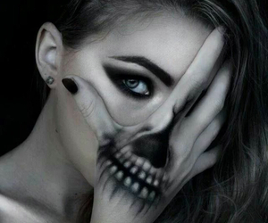girl, Halloween, and black image