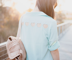 fashion, hearts, and clothes image