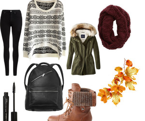 combine, fall, and Polyvore image