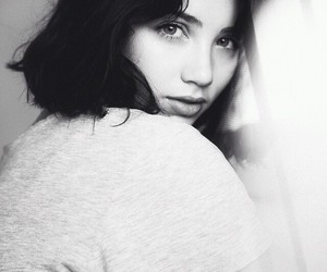 emily rudd, black and white, and model image