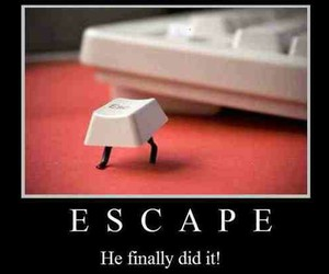 escape, funny, and computer image