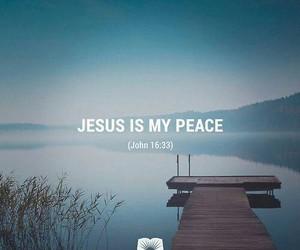 peace, god, and jesus image