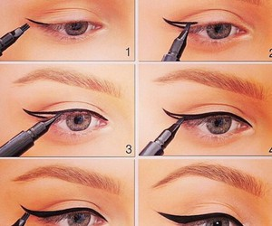 diy, eyeliner, and perfect image