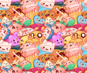 finn, JAKe, and kawaii image