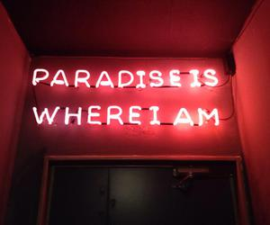 paradise, red, and neon image