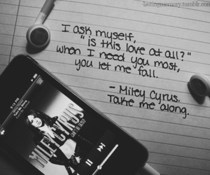 miley cyrus, take me along, and Lyrics image