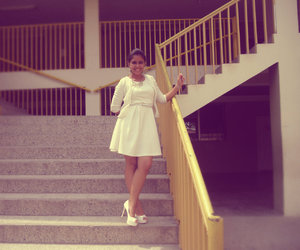 white love and dress & heels image