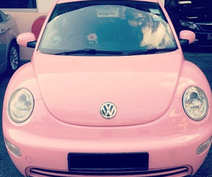 car, pink, and drive image