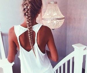 braid and girl image